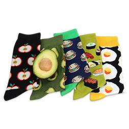 DV_ AU_ Men Women's Novelty Colorful Food Cotton Elastic Mid