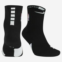 Nike Elite Ankle Cushioned NBA Basketball Socks Men 8-12 Bla