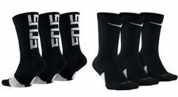 NIKE Elite Everyday Crew Socks 3-Pack Black/White/Multi Men'