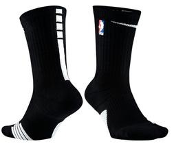 NIKE ELITE NBA CREW SOCKS, BLACK, MEN'S LARGE