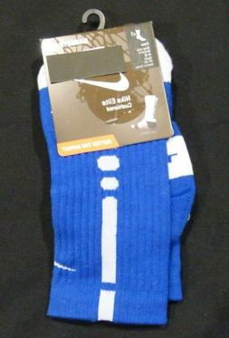 Nike Elite Socks Cushioned - Men L: 8-12 Women XL:10-13  Blu