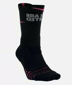 Nike Elite Versatility Breast Cancer Crew Socks SX7008-010 M