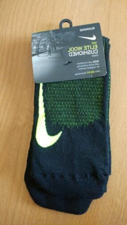 Nike Elite Wool Cushioned Crew Running Socks MEN 10-11.5 WMN
