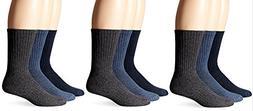Dockers Men's Enhanced and Soft Feel Cushion Crew Socks, Nav