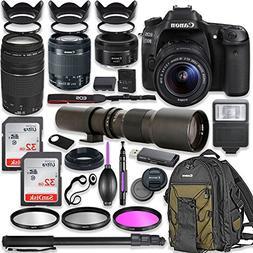 Canon EOS 80D DSLR Camera with 18-55mm Lens Bundle + Canon E
