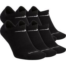 Nike Everyday Cushion No-Show Socks 6 Pack Dri-Fit Men 8-12
