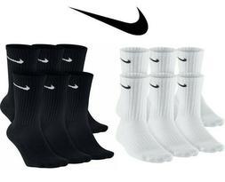Nike Dri-Fit Cotton Cushioned Crew Socks 1, 3 OR 6 PAIRS WHI