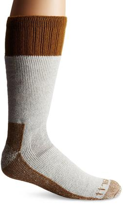 Carhartt Men's Extremes Cold Weather Boot Socks,  Brown, Sho