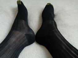 ***Fantastic Men's Gold toe 3 pairs Sheer Black Dress sock