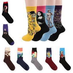 Fashion Cotton Socks Unisex Art Painting Socks Men Women Fun
