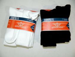 Fit Size 6-12 New Mens Dockers Brand Black & White Socks in