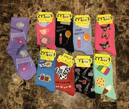 FOOZYS Fun Novelty Socks Adult Womens 9-11 Mens 10-13 Girls
