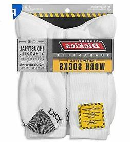 Dickies Genuine Mens 5-Pair Crew Style Work Socks - White wi