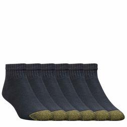 Gold Toe Men's 656p Cotton Quarter Athletic Socks, 6 Pack