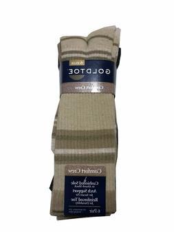"GOLD TOE®  Men's 6 Pack Comfort Crew Socks  "" Cushioned S"