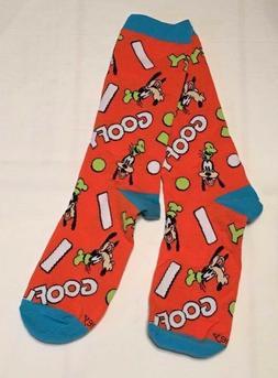 Disney Store Goofy Crew Socks for Men Fits Sizes 6-12 New w/