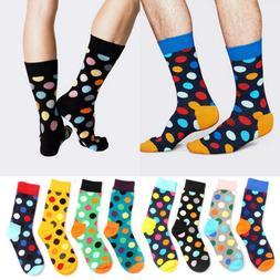 Happy Socks Unisex Men women Casual Socks Polka Dots Multi-C