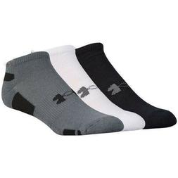 UNDER ARMOUR Men's 3 Pack Heatgear Training Low Cut Socks B,