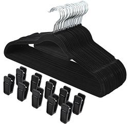 Finnhomy Heavy Duty 50 Pack Clothes Hangers with 10 Multiple