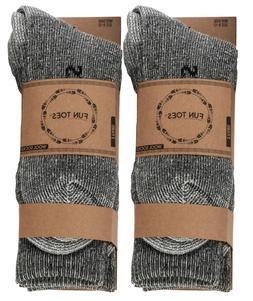 Men heavy duty PRIME Merino Wool Socks 4 Pack for winter ski