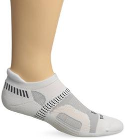 Balega Hidden Contour Socks For Men and Women , White, Mediu