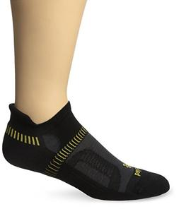Balega Hidden Contour Socks For Men and Women , Black/Yellow