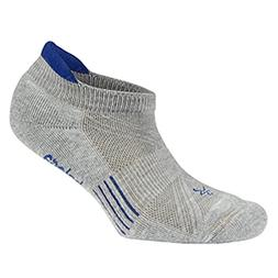 Balega Kids Hidden Cool Socks, Grey/Electric Blue, Large