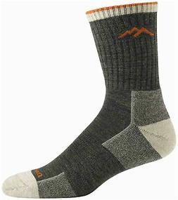 Darn Tough Hiker Micro Crew Cushion Socks - Men's Large Oliv