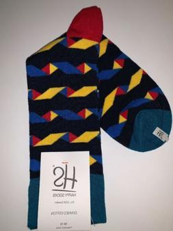 HS Happy Socks Men's Combed Cotton Socks 10-13   NWT