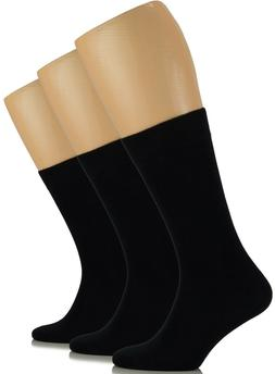 MEN Dress Crew BAMBOO Socks, Solid Colors, Business , MEDIUM