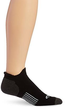 ASICS Hydrology Low Sock, Black/White, Large