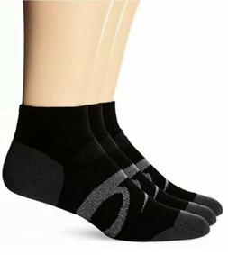 ASICS Intensity Quarter Socks 3-Pack, Large, Black Assorted