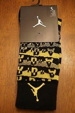 860be6e8a94deb NIKE JORDAN Air Sneaker Socks Thunder Black Yellow 631714 01