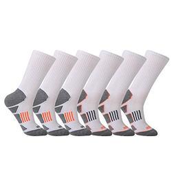 JOYNÉE Men's 3/6 Pack Athletic Cushion Crew Socks Performan