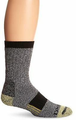 Dickies Men's Kevlar Reinforced Steel Toe Crew Socks, Black,