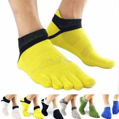 Men Sport Socks Non Slip Pilates Massage 5 Toe Socks with Fu