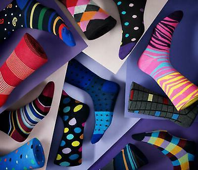 12 Marino Men's Fun Colorful Socks Fashion