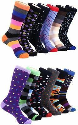 Colorful Socks for Men Colored Patterned Mens Dress Socks 12