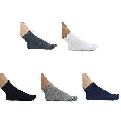 Men Fingers Socks Breathable Ankle Soft 5 Colors