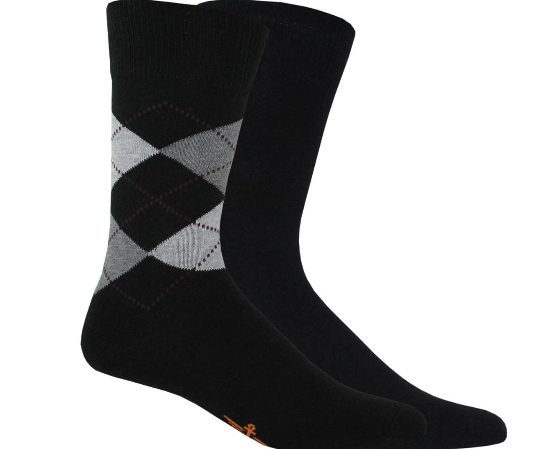 Dockers 2-pack Men's Argyle/Solid Super Soft Crew Socks Size
