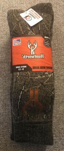 2 Pack / Pairs Camouflage Brown Merino Wool Men's Hunting