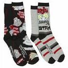 2 Pair Nickelodeon Hey Arnold Socks Men's Shoe Size 6-12 Gif
