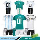 2018 Football Club Kit Soccer Short Sleeve Kid Boys Team Spo