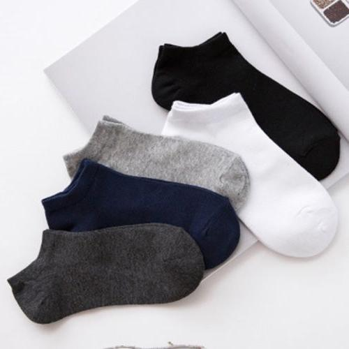 20Pair Mens Cotton Sport Short Soild Ankle Socks Casual Low