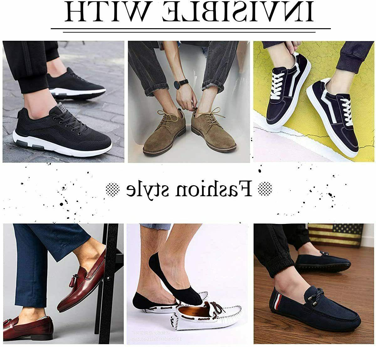 3-12 Pairs Invisible Socks No Show Nonslip Loafer Cotton 10-13