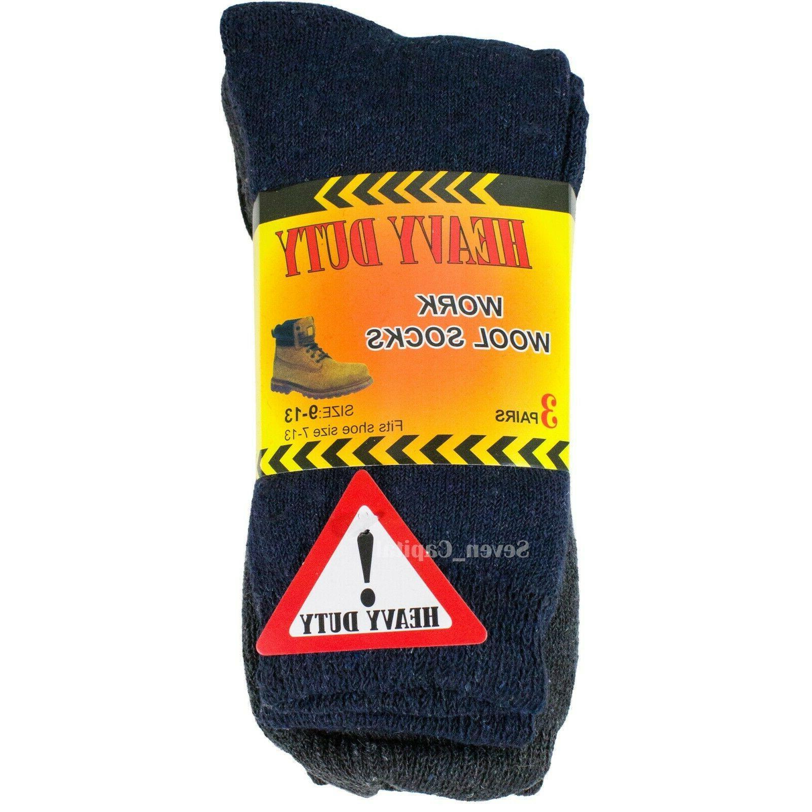 3-12 Mens Heavy Duty Wool Socks