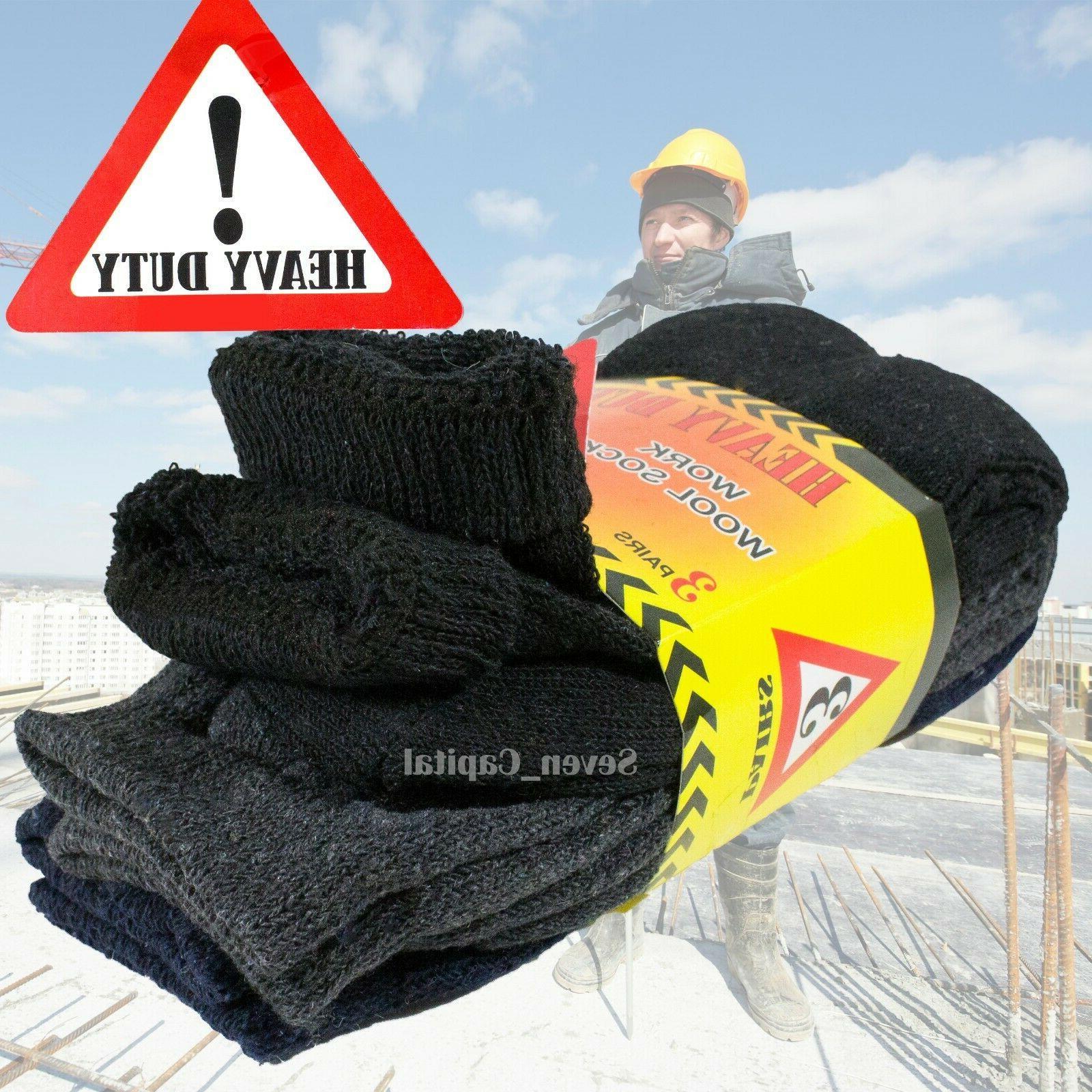 3-12 Pairs Duty Winter Wool Socks