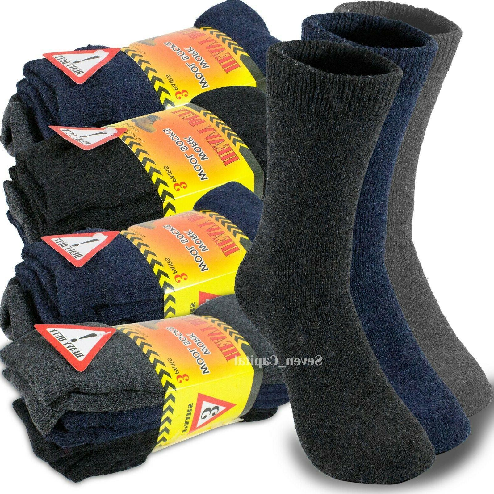 3 12 pairs mens heavy duty winter