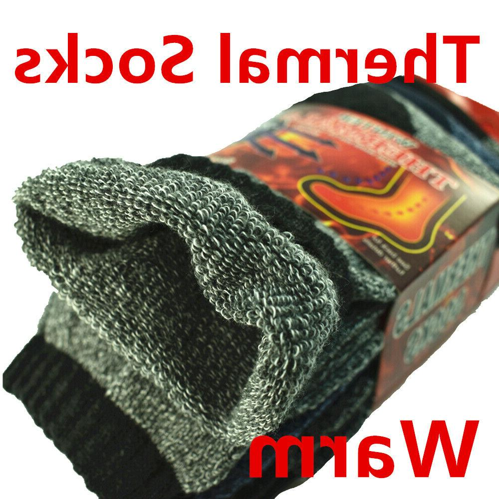 3-12 Pairs Winter Heavy Duty Thermal Heated Warm Boots Size