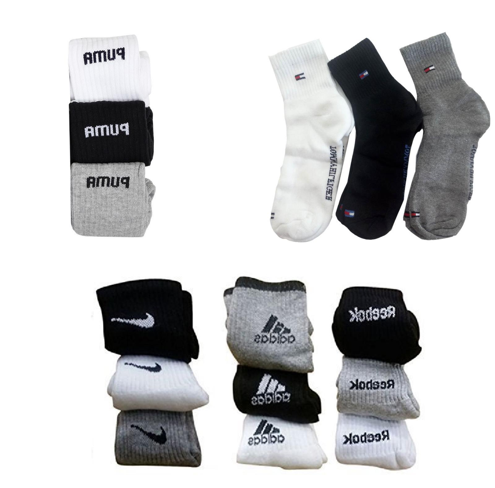 3 pair sports socks ankle length multi
